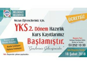 Melikgazi Belediyesi YKS 2. dönem kurs kayıtları başladı