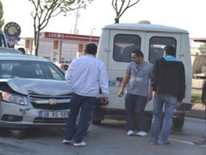 Osman Kavuncu Bulvarında Trafik Kazası