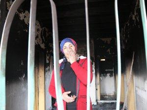 Kayseri'de Kiralık evleri yanan aileye yardım eli uzatıldı
