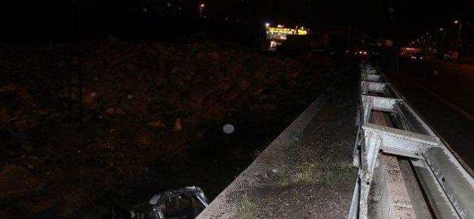 Kayseri'de trafik kazası şarampole uçtu: 3 yaralı