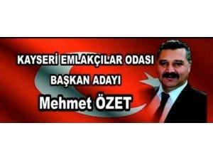 Kayseri Emlakçılar Odası Başkan Adayı Mehmet Özet: