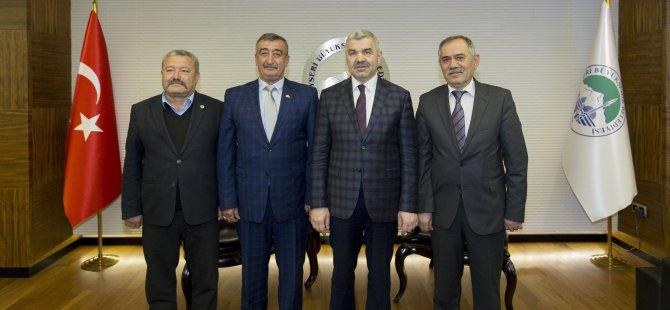 Yeşilhisar AK Parti ve MHP heyeti Başkan Çelik'i ziyaret etti