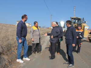 İncesu Belediyesinde yol çalışmaları devam ediyor