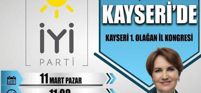 MERAL AKŞENER 11 MART'TA KAYSERİ'YE GELİYOR: