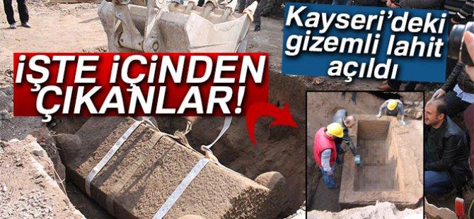 KAYSERİ'DE GİZEMLİ LAHİT AÇILDI İŞTE İÇİNDEN ÇIKANLAR