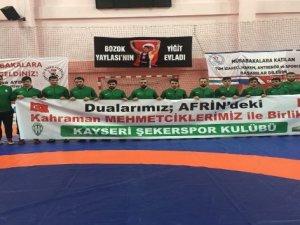 Kayseri Şekerspor Güreş Takımı Güreş Süper Lig B Grubunda 2. oldu