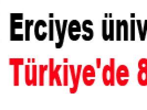 Erciyes üniversitesi Türkiye'de 8.sırada