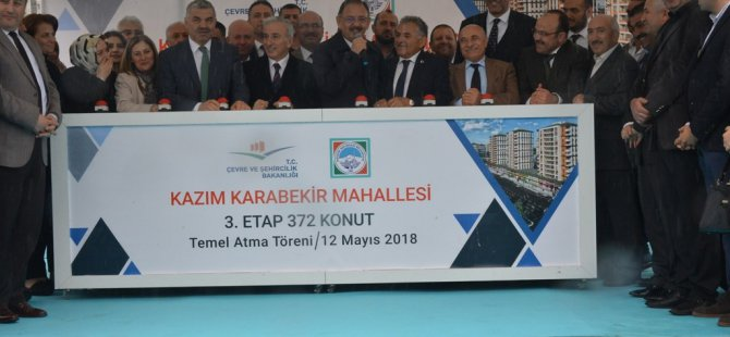 Kazım Karabekir'de 372 konut ile 27 dükkânın temeli atıldı
