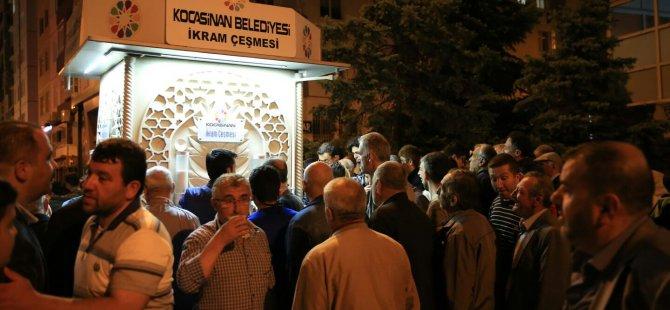 Kocasinan Belediyesi'nden Ramazan ayı boyunca limonata ikramı