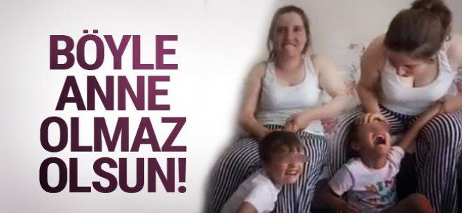 6 yaşındaki çocuğa öz anne şiddeti-video