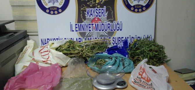 Kayseri'de uyuşturucu ticareti yapan 2 kişi gözaltına alındı
