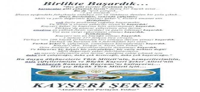 KAYSERİ ŞEKER FABRİKASI: