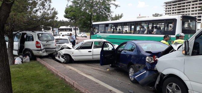 Son dakika Kayseri trafiğini kitleyen kaza
