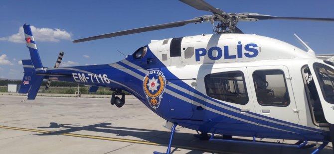 Kayseri'de helikopter ile zehir tacirlerine darbe
