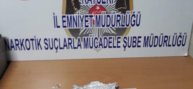 Kayseri'de 6 zehir taciri gözaltına alındı