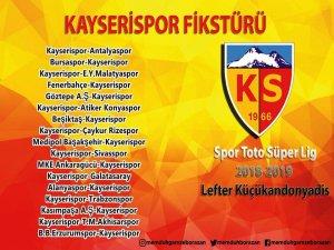Kayserispor Fikstürü ilk maç Antalyaspor ile evinde