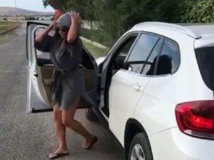 Hülya Avşar dans ederken arabasından oldu