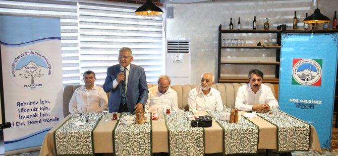 Başkan Büyükkılıç, STK temsilcileriyle buluştu