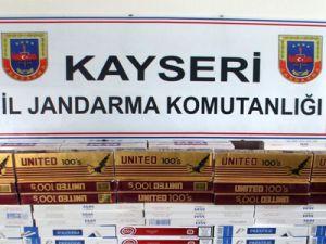 KAYSERİ'DE YOLCU TRENİNDE BANDROLSÜZ SİGARA ELE GEÇİRİLDİ