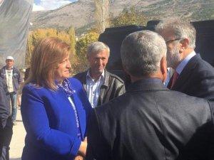 Ak Parti Bünyan Belediye Başkan A. Adayı Fatma Güner Temel Atma Törenine Katıldı