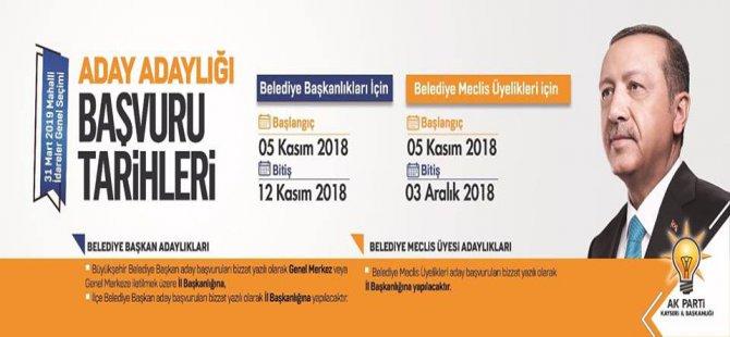 Ak Parti Kayseri Aday Başvuru Tarihleri