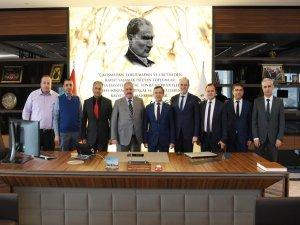 Rektör ÇALIŞ'tan, Kayseri OSB Yönetim Kurulu Başkanı NURSAÇAN'a İade-i Ziyaret