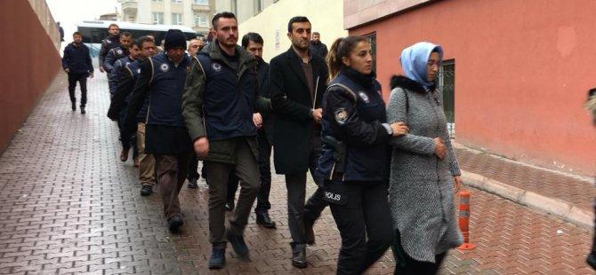 Kayseri'de FETÖ operasyonu: 11 şahıs adliyede