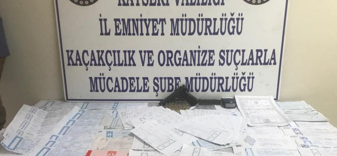 Kayseri'de çek senet örgütüne operasyon