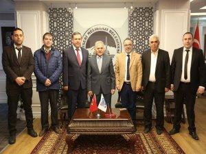 Türkiye Toplu Taşıma İşverenleri Sendikası Başkan Memduh Büyükkılıç'ı ziyaret etti