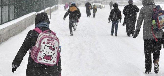 Kayseri Valisi açıkladı: kar nedeniyle Okullar tatil edildi