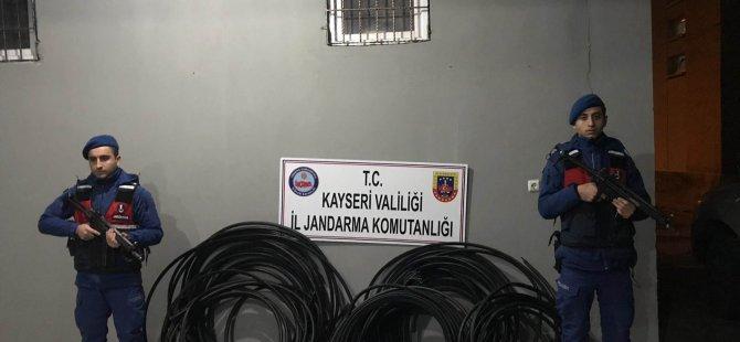 İncesu'da Kablo hırsızları yakayı ele verdi