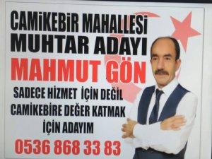 MAHMUT GÖN ERKİLET CAMİKEBİR'DEN MUHTAR ADAYLIĞINI AÇIKLADI