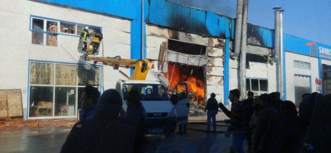 Oymaağaç Mobilya fabrikasında korkutan yangın