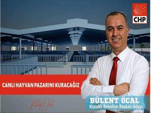 Chp Kozaklı Belediye Başkan Adayı Bülent Öcal: Canlı Hayvan Pazarı Kuracağız