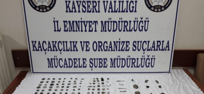 Kayseri'de 165 parça tarihi eser ele geçirildi