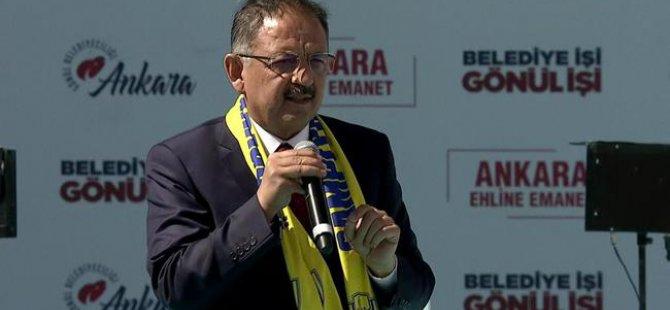 Özhaseki, Ankara Mitinginde Konuştu: Başkent İçin 5 Bin Proje