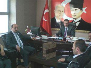 KAYSERİ BBP'DEN MHP'YE ZİYARET