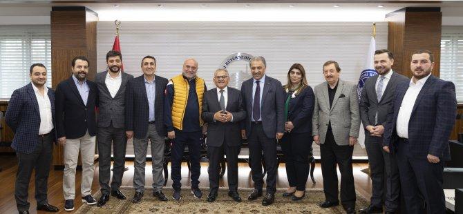 Kayserispor Yönetimi, Büyükkılıç'a hayırlı olsun ziyaretinde bulundu
