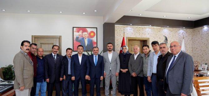 MHP'den Başkan Cabbar'a 'hayırlı olsun' ziyareti