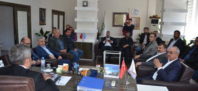 Esnaf kuruluşlarından Başkan Altun'a hayırlı olsun ziyareti