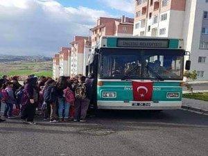 İncesu Belediyesi Süksün öğrenci servisini ücretsiz yaptı