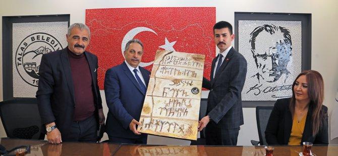 Başkan Mustafa Yalçın'a MHP ve AK Parti'den ziyaret
