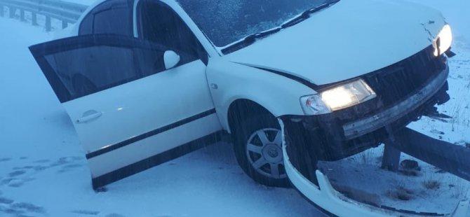 Erciyes'te kar yağışı kazalara neden oldu