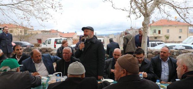Başkan Çolakbayrakdar, Ebiç ve Yemliha'da Yağmur duasına katıldı