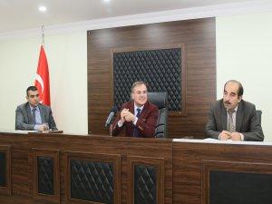 Hacılar Belediye Başkanı Özdoğan muhtarlarla bir araya geldi