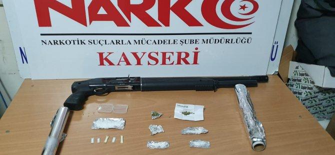 Kayseri'de Narkotik polisinden uyuşturucu operasyonu