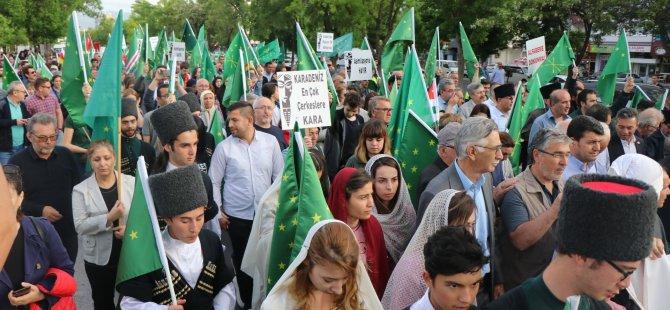 Kayseri'de Çerkesler soykırımı hatırlatmak için yürüdü