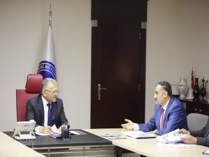 Başkan Büyükkılıç ve Başkan Cabbar'dan istişare toplantısı