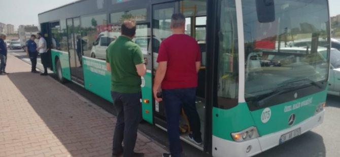 Kocasinan Kumarlı'da Yolcu otobüsünde korku dolu dakikalar yaşandı