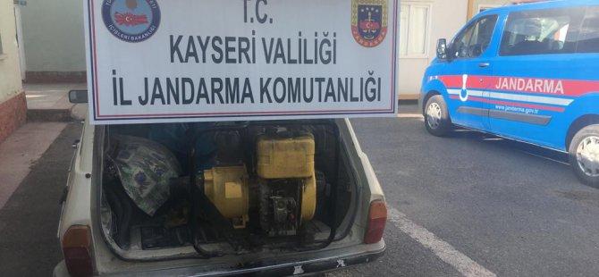 Kayseri'de Su motoru ve sulama borusu çalan iki kişi yakalandı